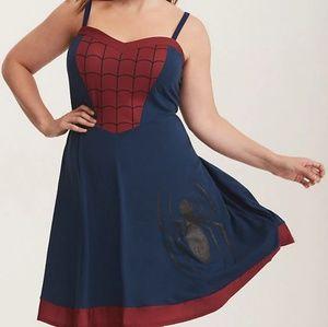 Torrid Spiderman Skater Dress